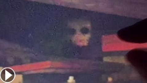 فيديو مرعب لمخلوق مخيف يختلس النظر من تحت جسر! ما هو؟