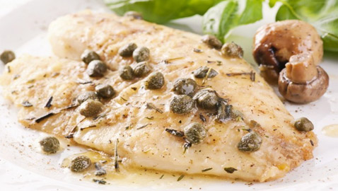 إليكم طريقة تحضير بيكاتا السمك مع الفطر اللذيذ والخفيف للرجيم